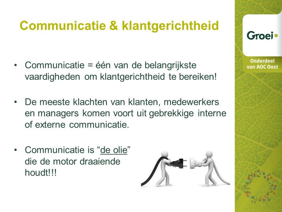 Communicatie & klantgerichtheid