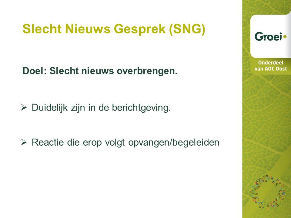 Slecht Nieuws Gesprek (SNG)
