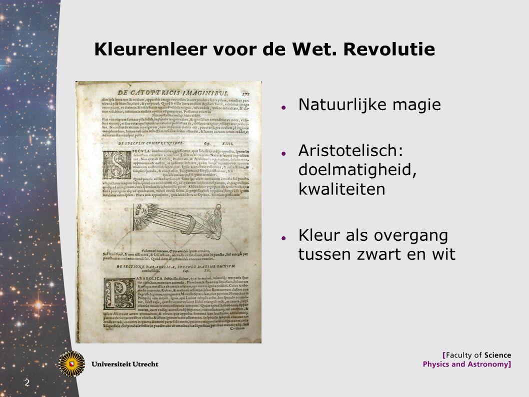 Kleurenleer voor de Wet. Revolutie