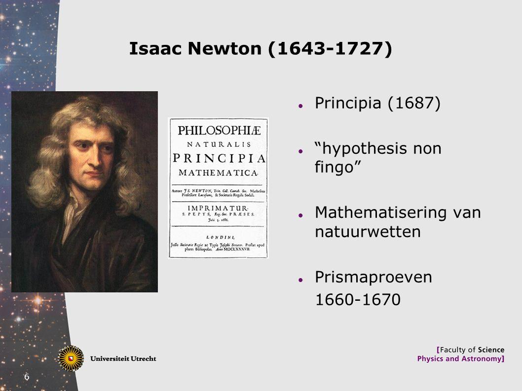 Isaac Newton (1643-1727) Principia (1687) hypothesis non fingo