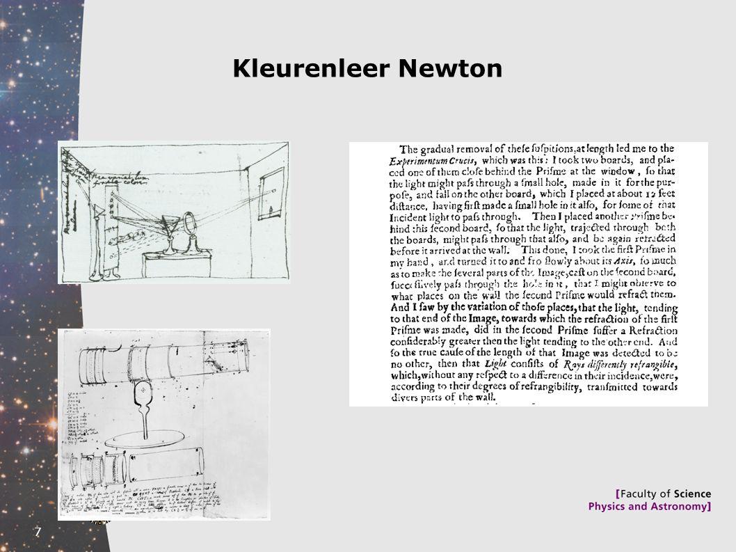 Kleurenleer Newton