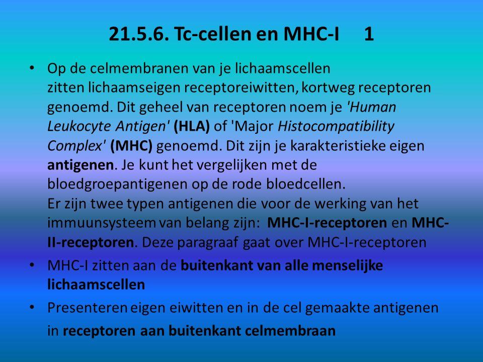 21.5.6. Tc-cellen en MHC-I 1