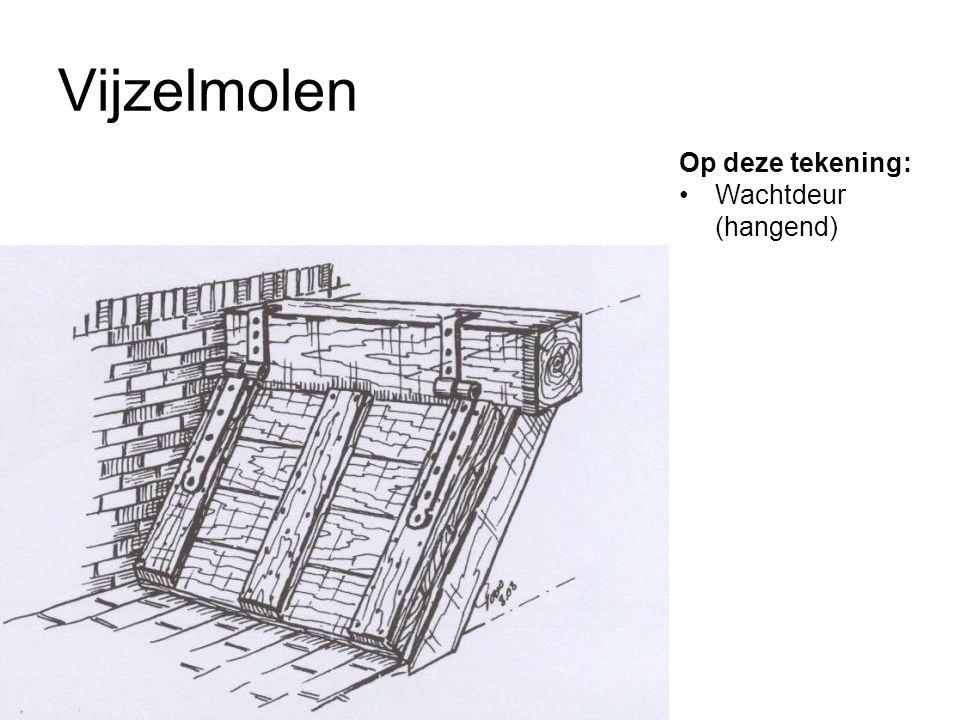 Vijzelmolen Op deze tekening: Wachtdeur (hangend)
