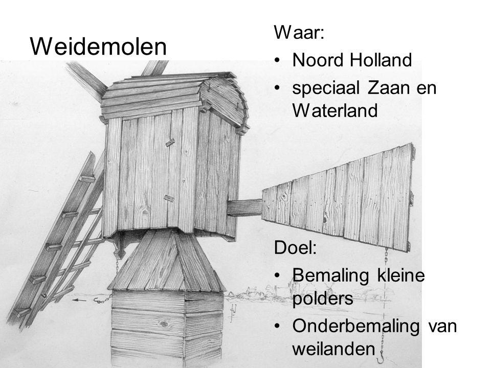Weidemolen Waar: Noord Holland speciaal Zaan en Waterland Doel: