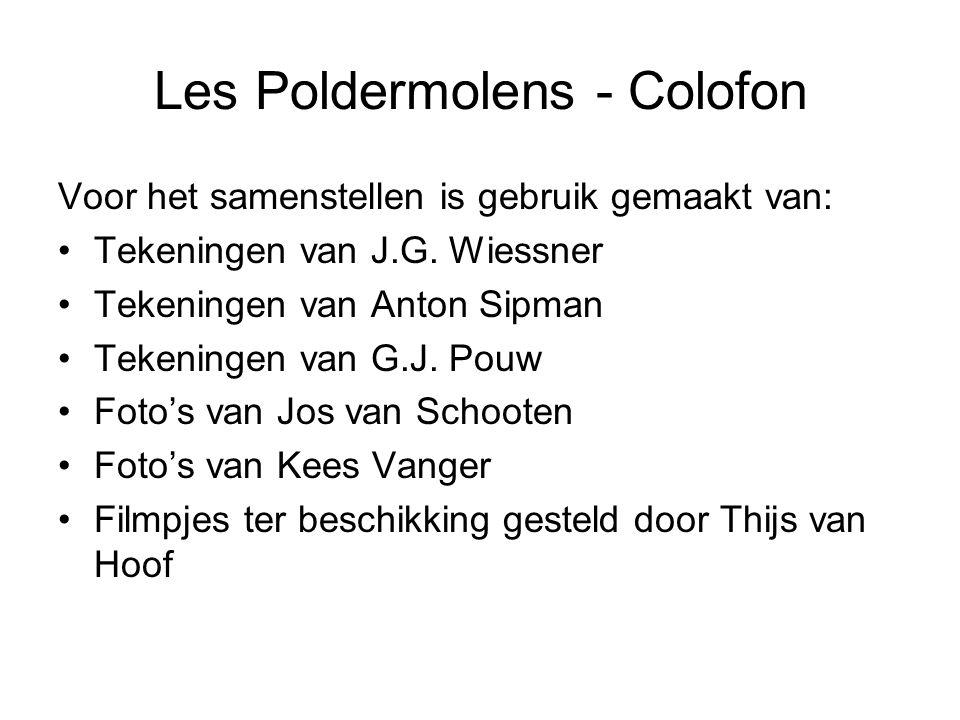 Les Poldermolens - Colofon