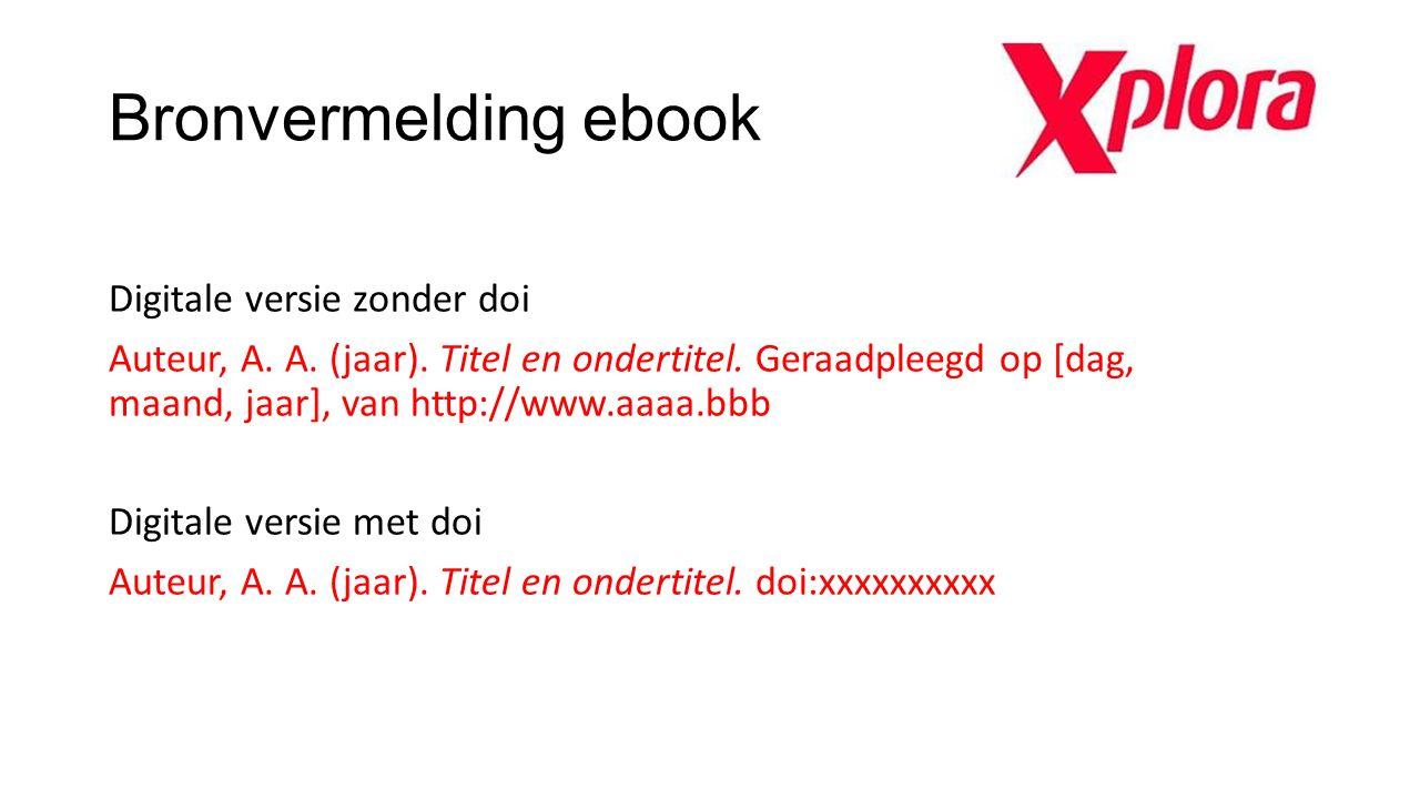 Bronvermelding ebook