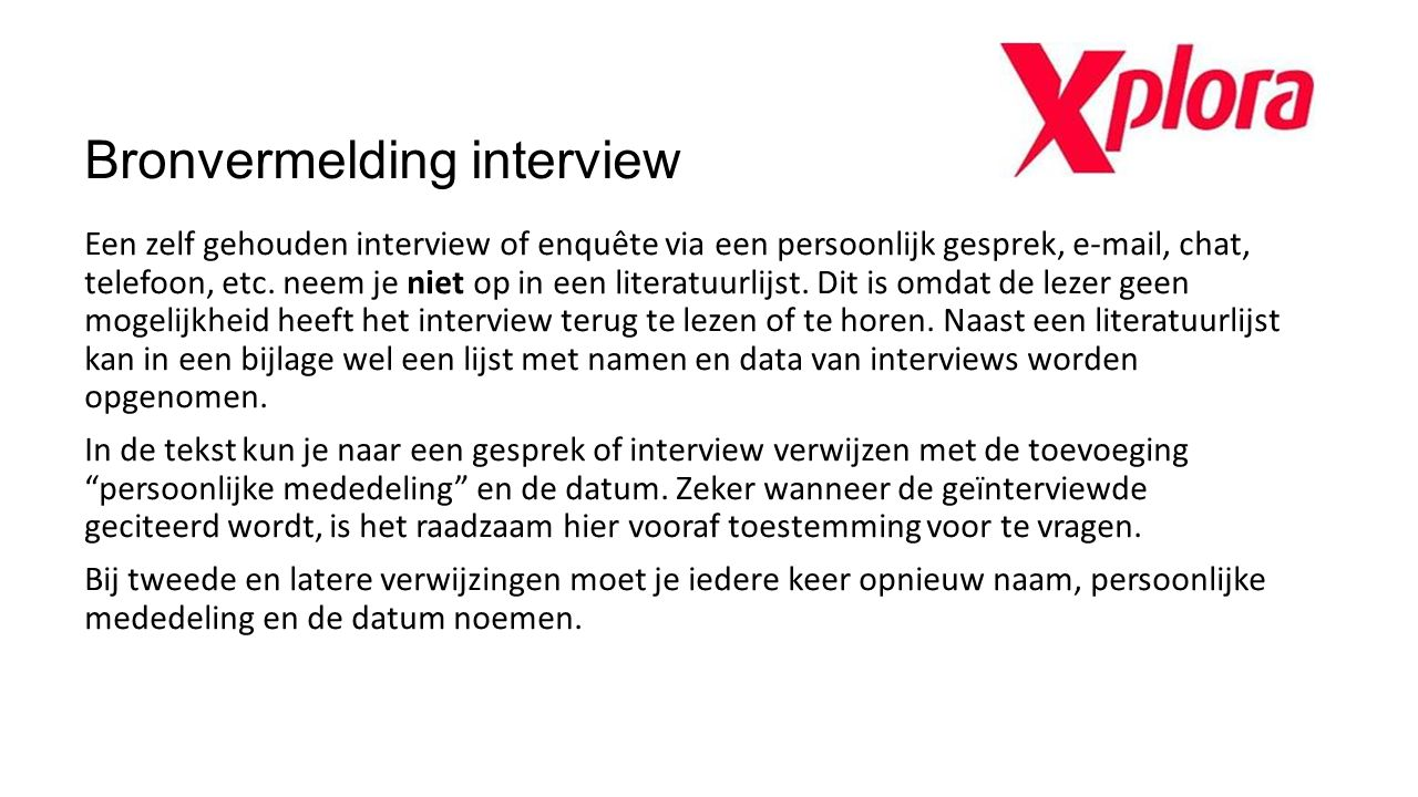Bronvermelding interview
