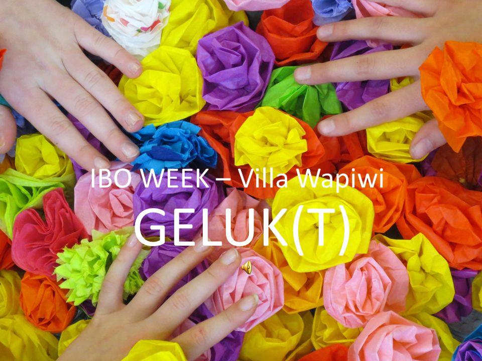 IBO WEEK – Villa Wapiwi GELUK(T)
