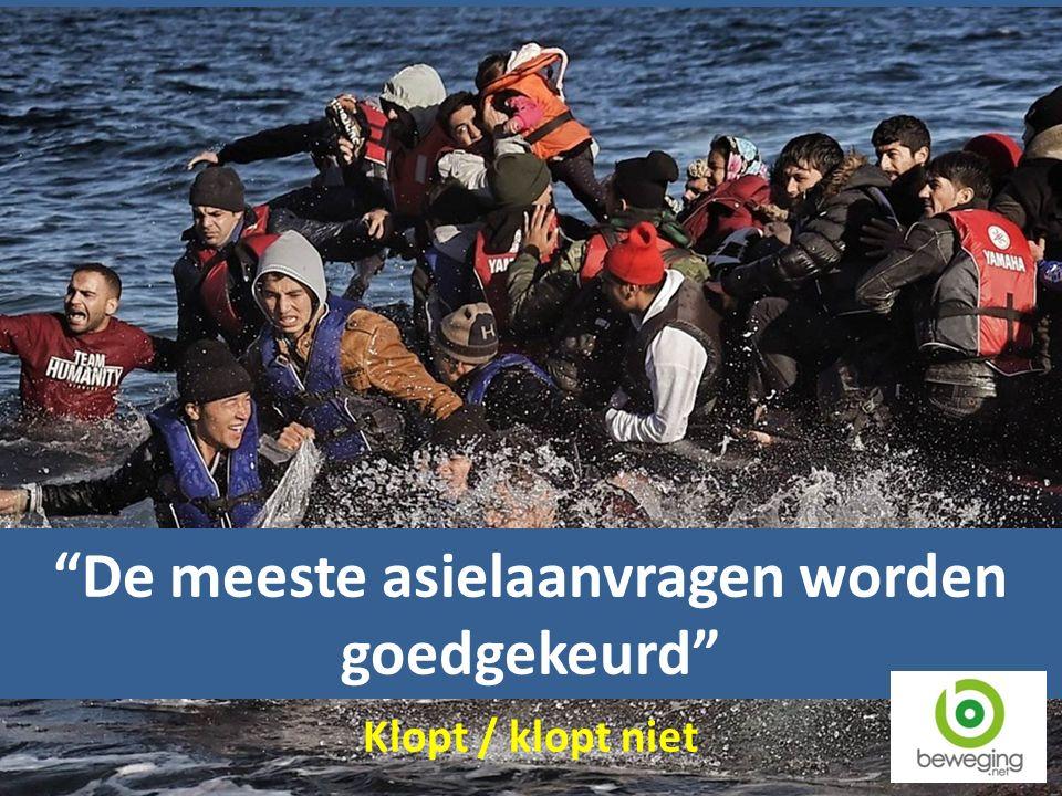 De meeste asielaanvragen worden goedgekeurd