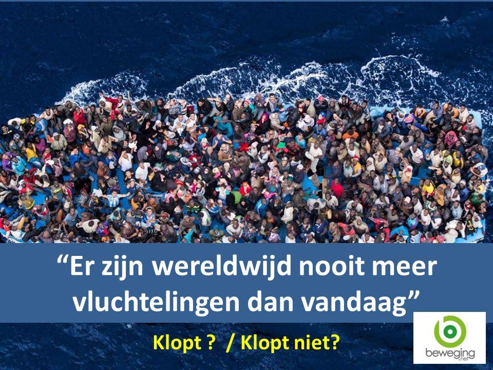 Er zijn wereldwijd nooit meer vluchtelingen dan vandaag