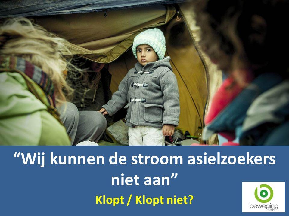 Wij kunnen de stroom asielzoekers niet aan