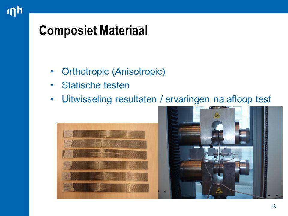 Composiet Materiaal Orthotropic (Anisotropic) Statische testen
