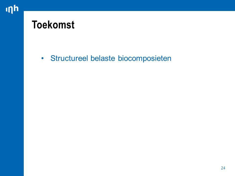 Toekomst Structureel belaste biocomposieten