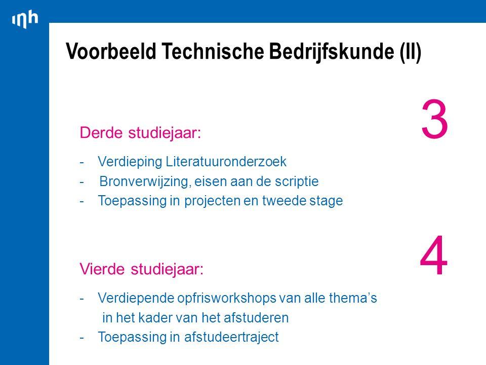 Voorbeeld Technische Bedrijfskunde (II)