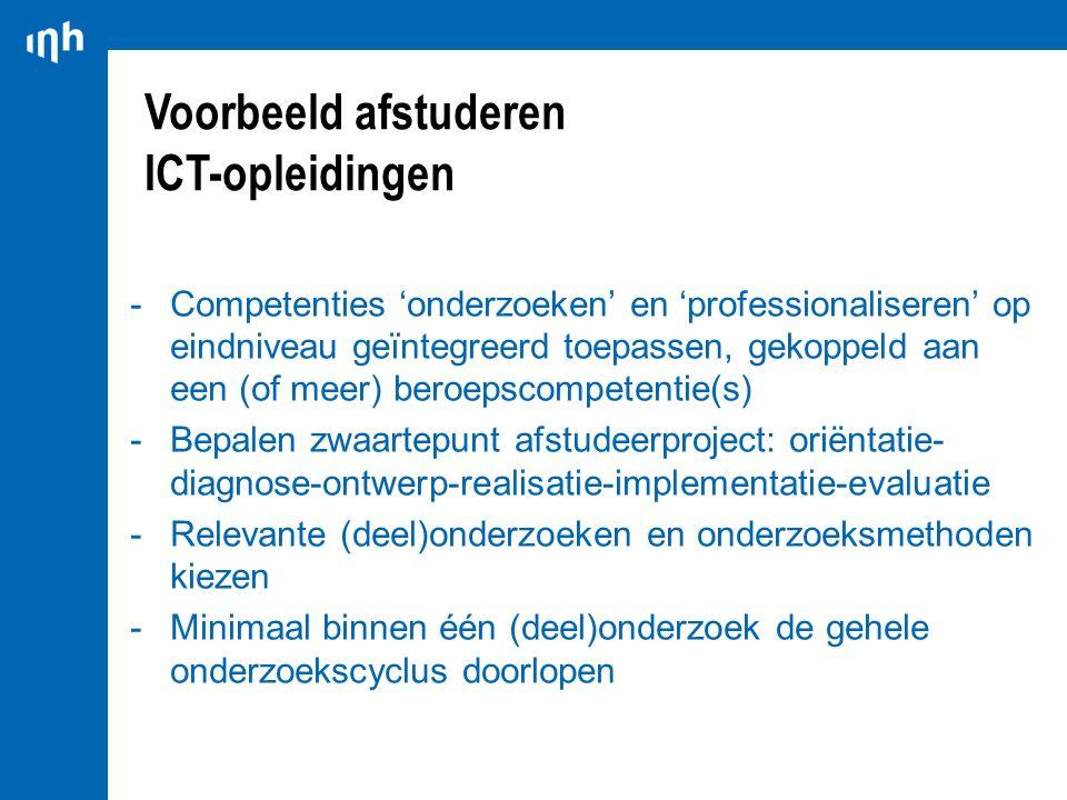 Voorbeeld afstuderen ICT-opleidingen