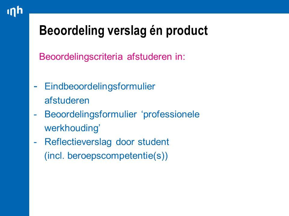 Beoordeling verslag én product