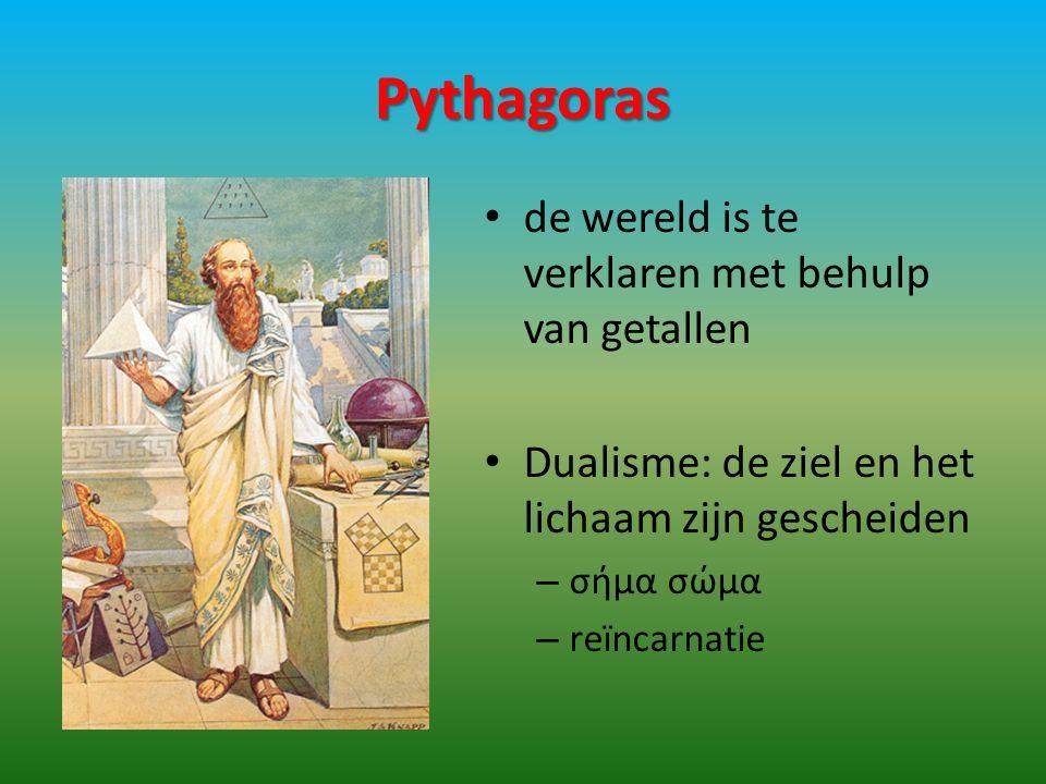 Pythagoras de wereld is te verklaren met behulp van getallen