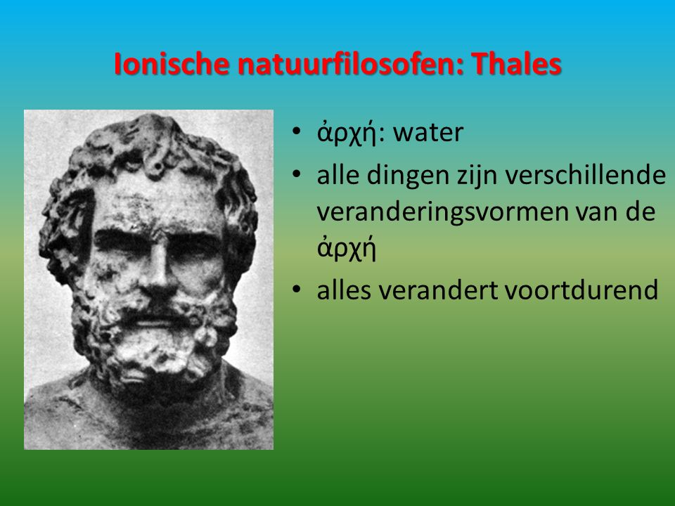 Ionische natuurfilosofen: Thales