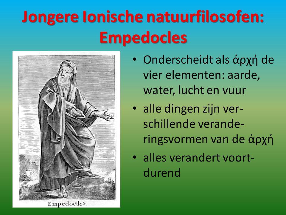 Jongere Ionische natuurfilosofen: Empedocles