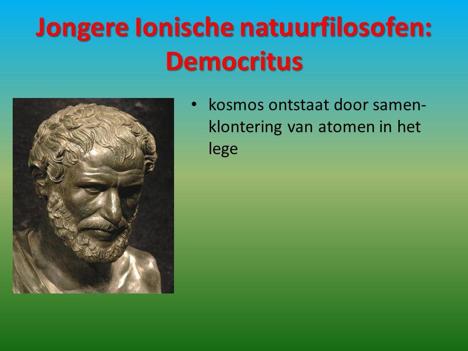 Jongere Ionische natuurfilosofen: Democritus