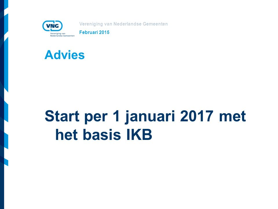 Start per 1 januari 2017 met het basis IKB