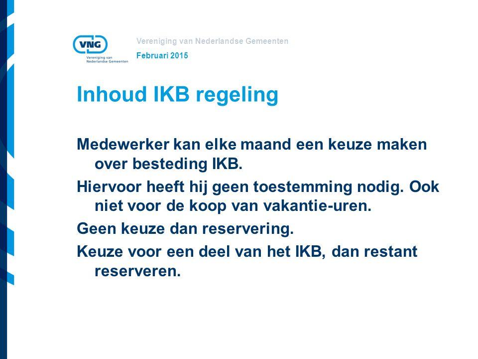 Februari 2015 Inhoud IKB regeling.