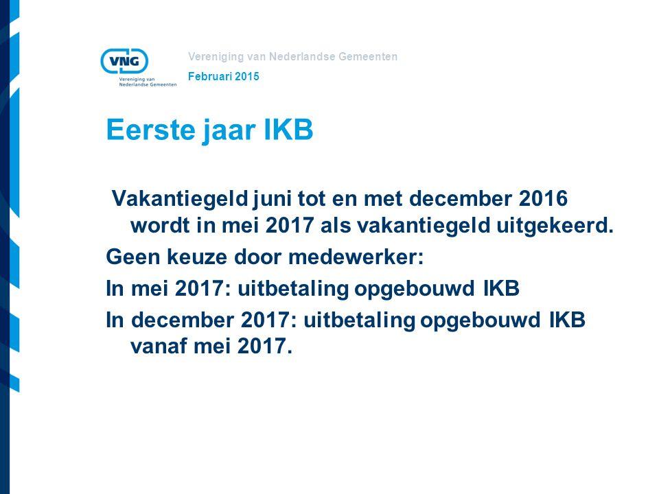 Februari 2015 Eerste jaar IKB.