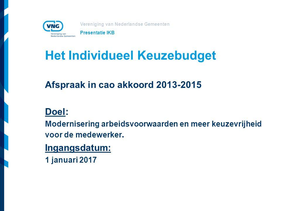 Het Individueel Keuzebudget