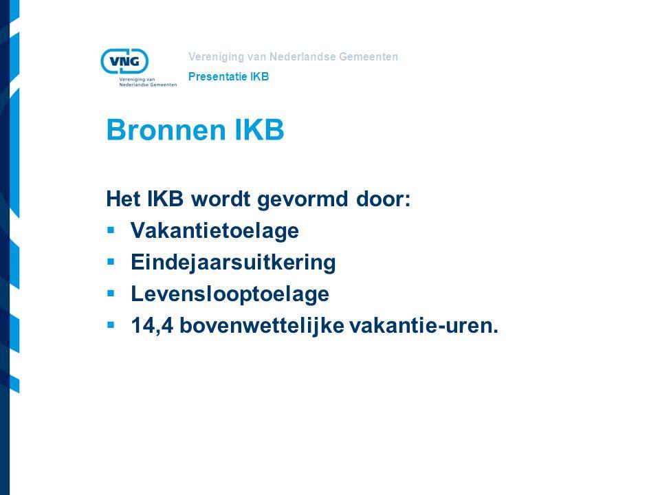 Bronnen IKB Het IKB wordt gevormd door: Vakantietoelage