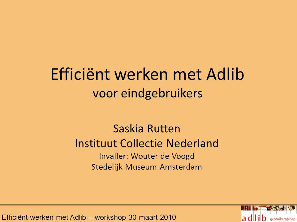 Efficiënt werken met Adlib voor eindgebruikers
