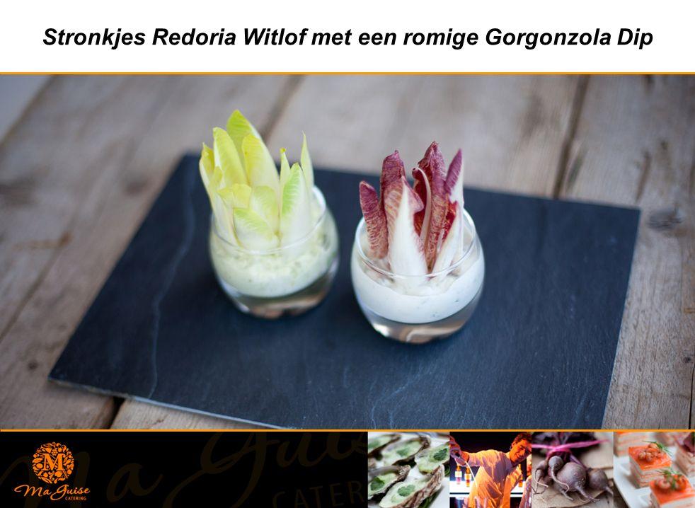Stronkjes Redoria Witlof met een romige Gorgonzola Dip