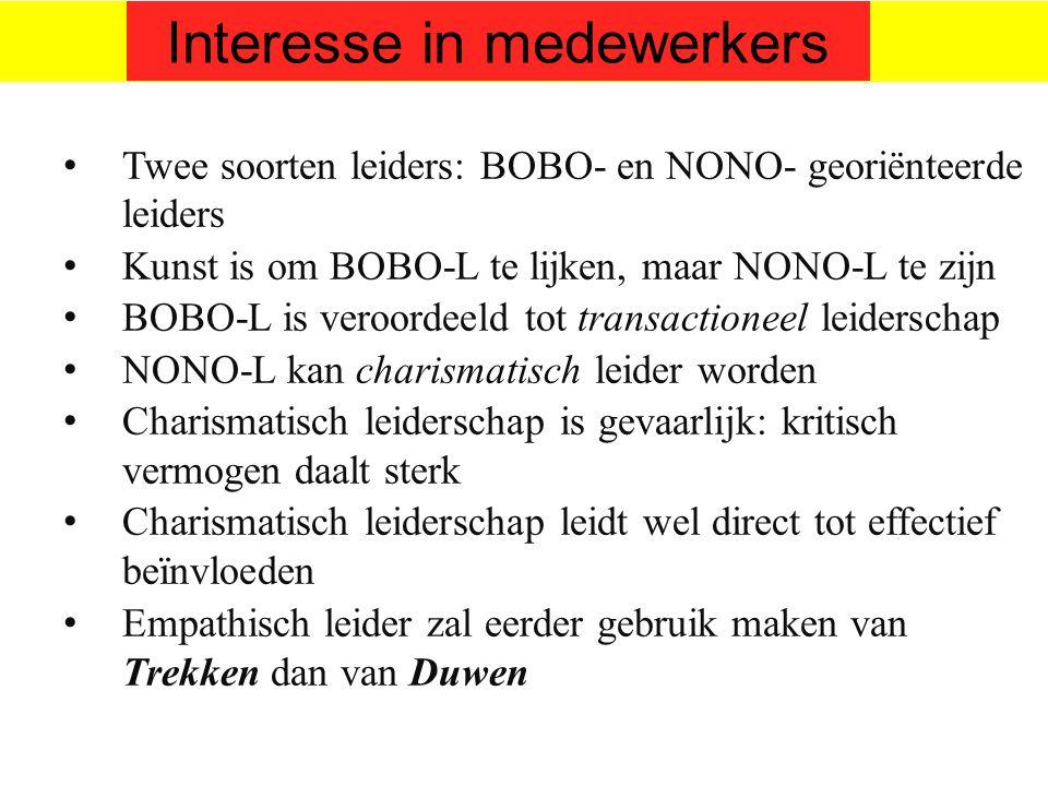 Interesse in medewerkers