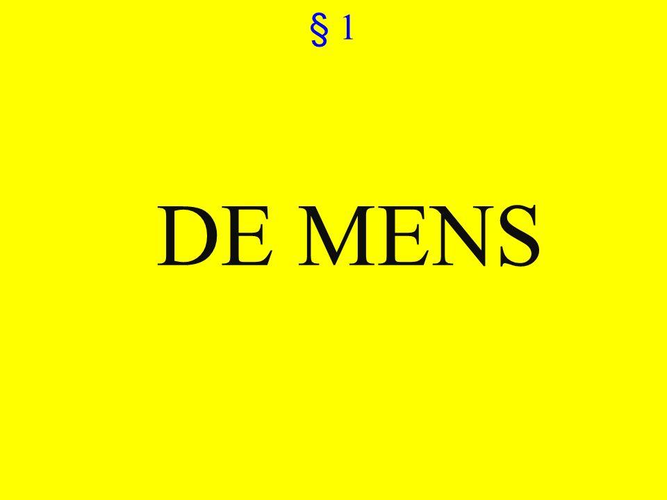 § 1 ©vandeSandeinlezingen,2011 DE MENS