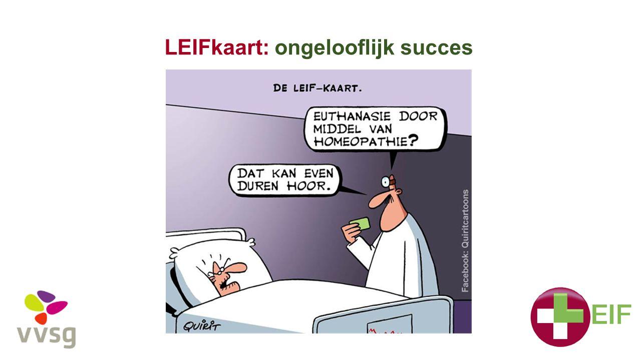 LEIFkaart: ongelooflijk succes