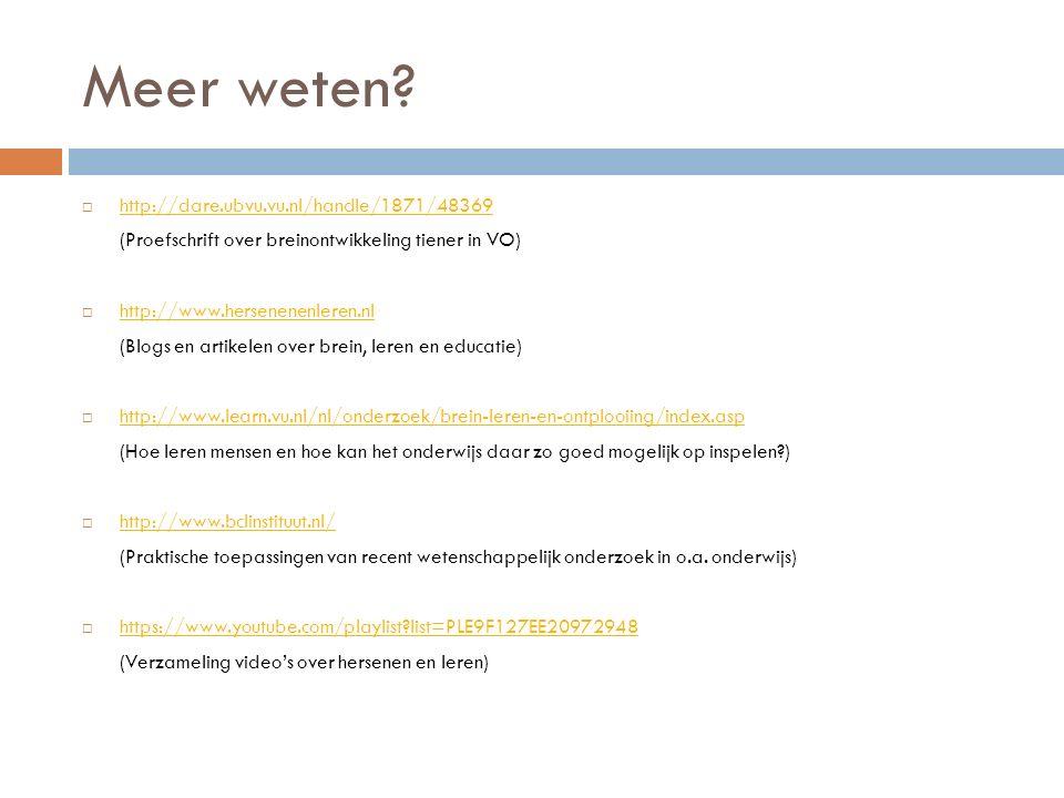 Meer weten http://dare.ubvu.vu.nl/handle/1871/48369