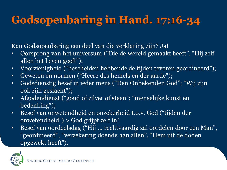 Godsopenbaring in Hand. 17:16-34