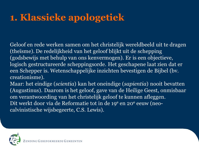 1. Klassieke apologetiek