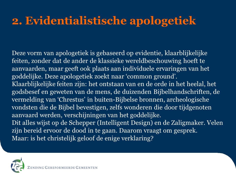 2. Evidentialistische apologetiek