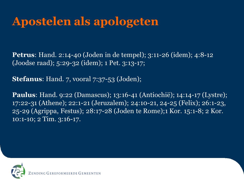 Apostelen als apologeten