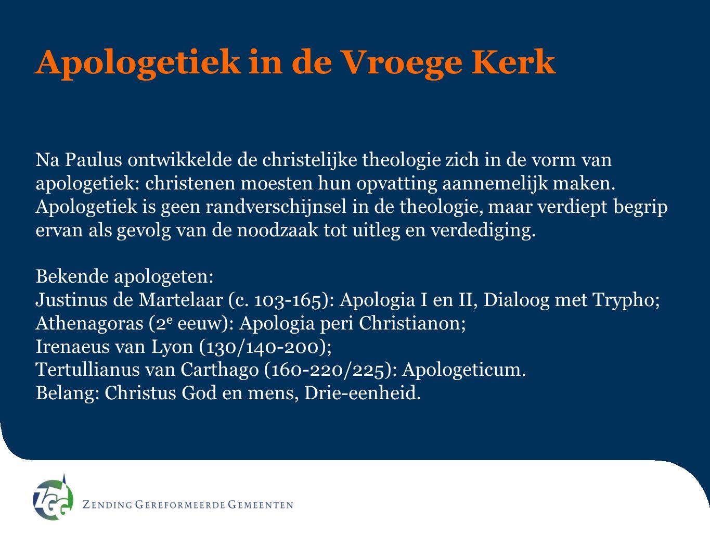 Apologetiek in de Vroege Kerk