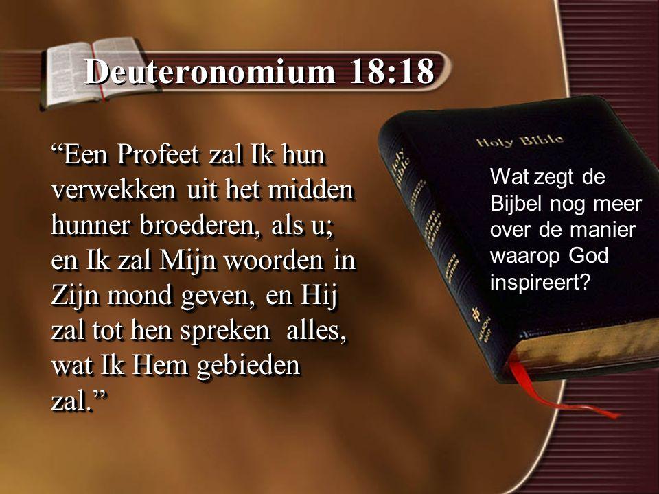 Deuteronomium 18:18