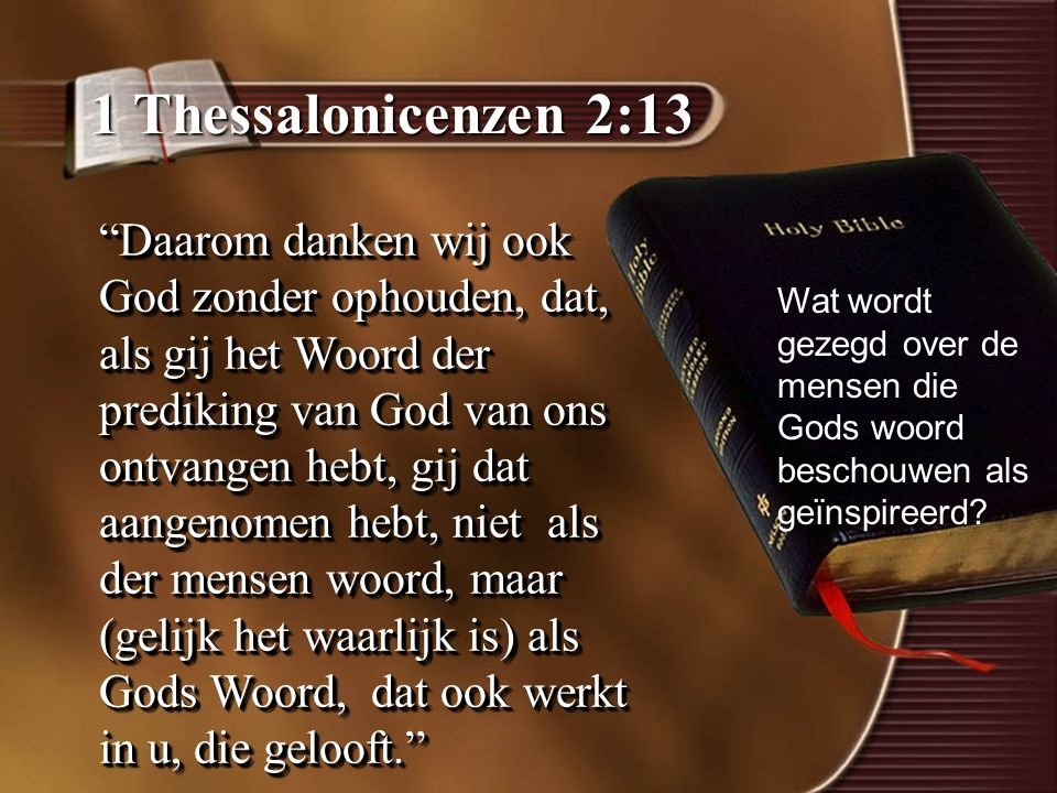1 Thessalonicenzen 2:13