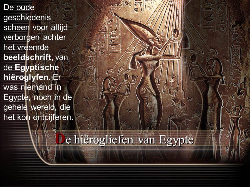 De hiërogliefen van Egypte