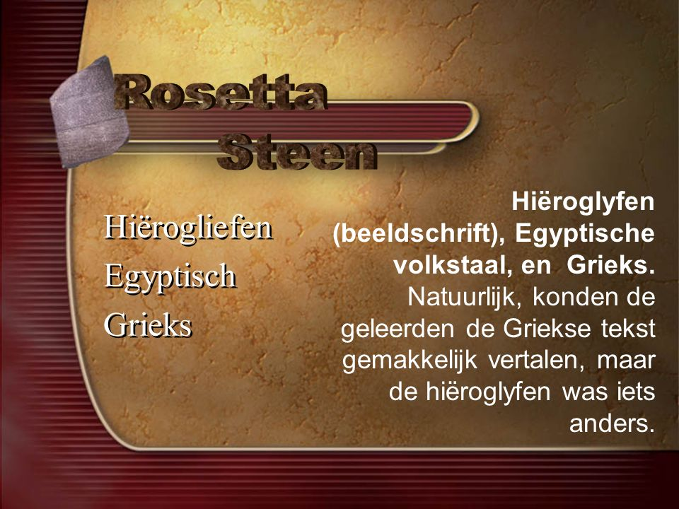 Rosetta Steen Hiërogliefen Egyptisch Grieks