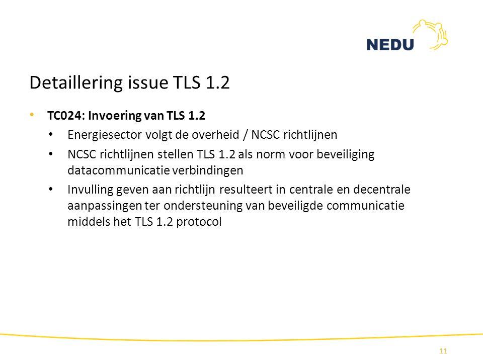 Detaillering issue TLS 1.2