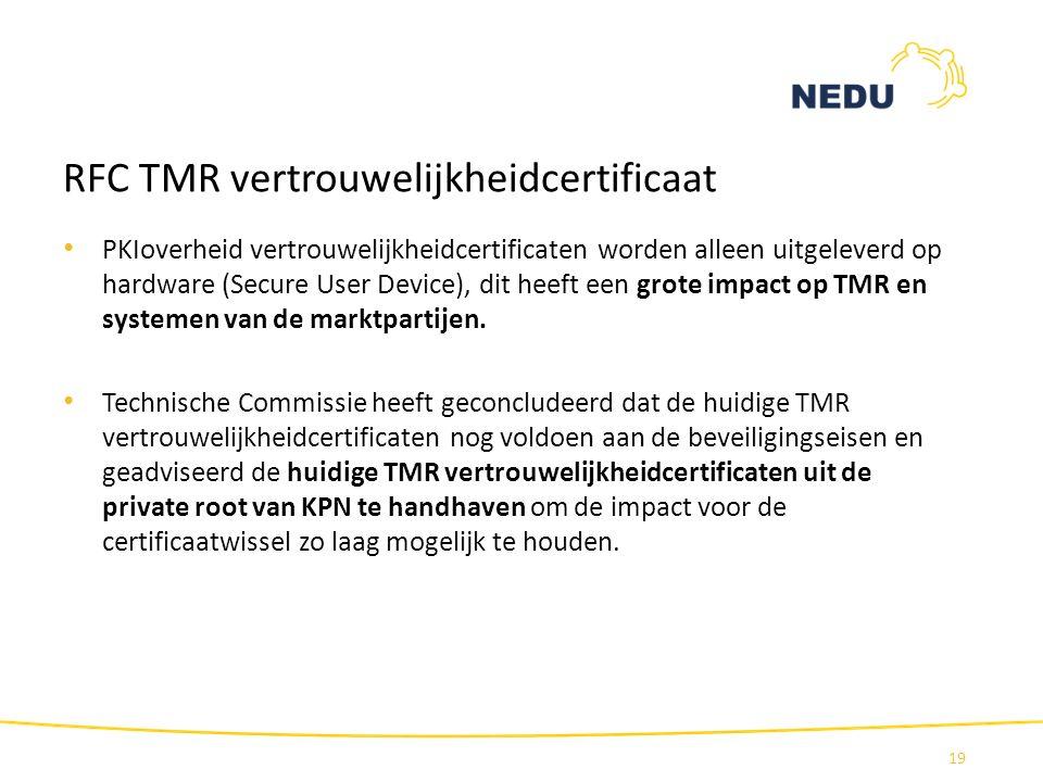 RFC TMR vertrouwelijkheidcertificaat
