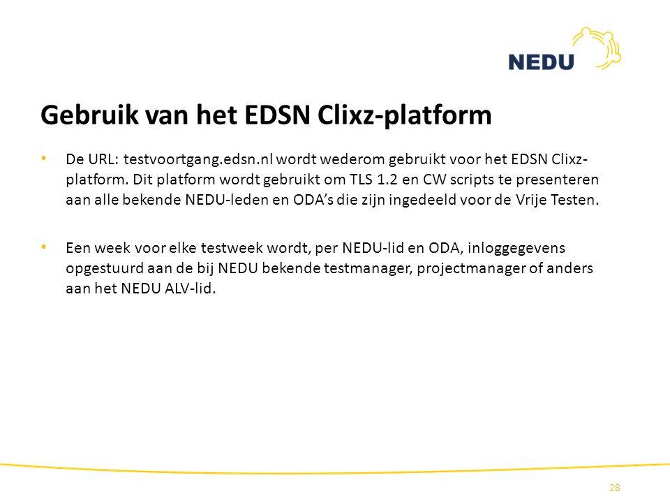Gebruik van het EDSN Clixz-platform