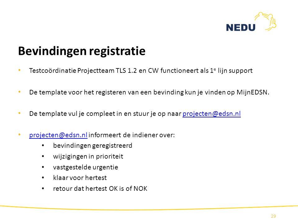 Bevindingen registratie