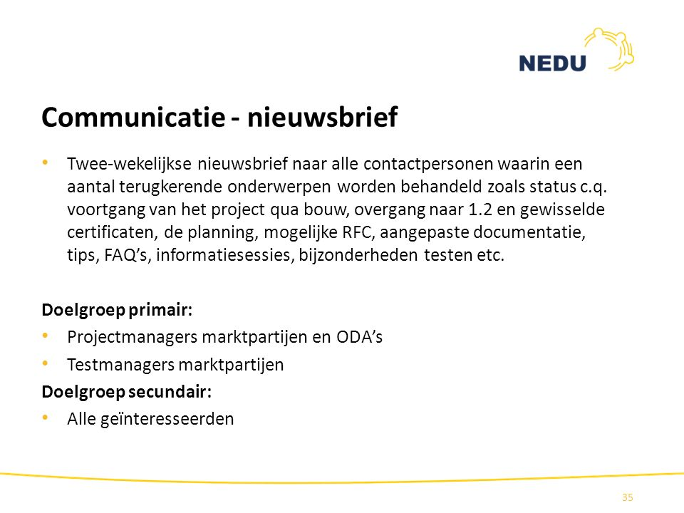 Communicatie - nieuwsbrief