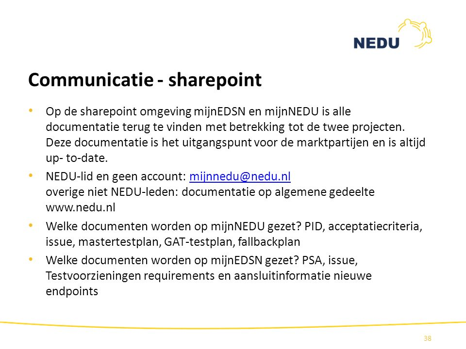 Communicatie - sharepoint